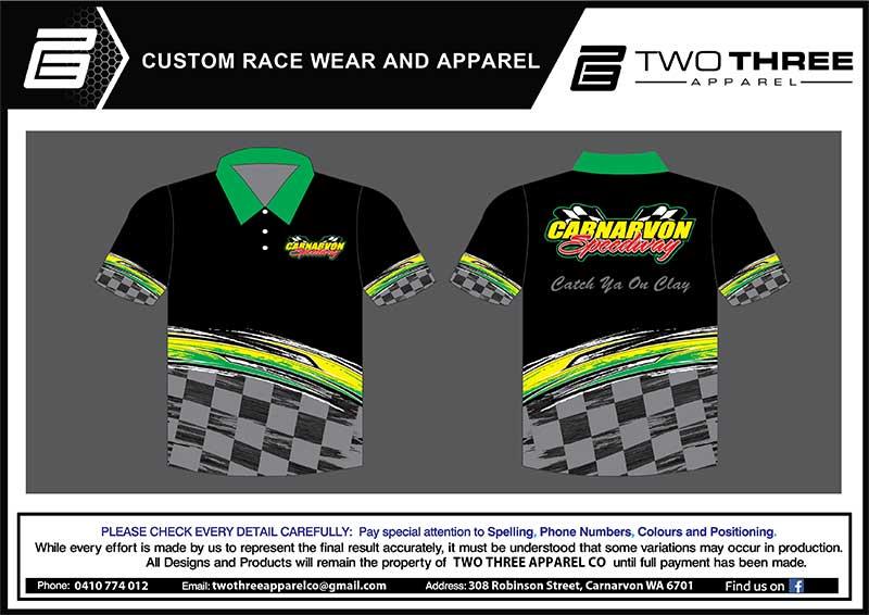Carnarvon Speedway Club Shirts